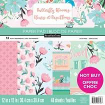 Sada papierov - Butterfly Blooms 30,5 x 30,5 cm
