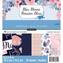 Sada papierov - Blue Blooms (15,2x15,2 cm)