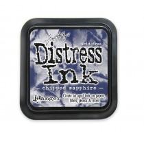 Poduška distress - chipped sapphire