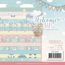 Sada papierov - Welcome Baby (15,2x15,2 cm)