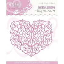 Vyrezávacia šablóna - Romance - Filigree heart