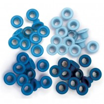 We R Memory Keepers standard eyelets blue