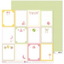 Obojstranný papier - rosa bebe 3