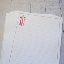 Listy do receptárov - červené