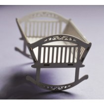 Lepenkový výrez -  Kolíska 3D
