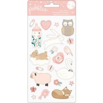 Sada nálepiek - Puffy Stickers Girl