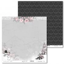 Obojstranný papier - Shabby Winter 01