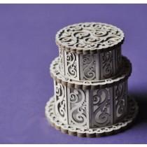 Lepenkový výrez - torta 3D