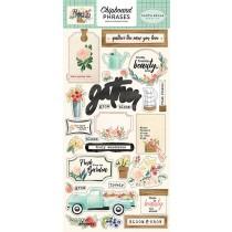 Chipboard - Flower Market