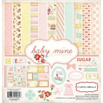 Sada papierov  Baby Mine Girl ( 30,5 x 30,5 cm)