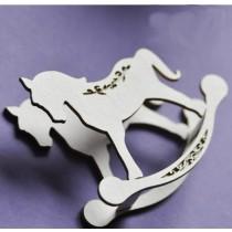 Lepenkový výrez - hojdací koník 3D