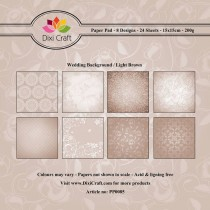 Sada papierov - Wedding Background - Light Brown  (15,2x15,2 cm)