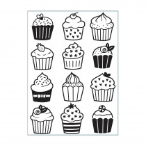 Embosovacia kapsa - cupcakes