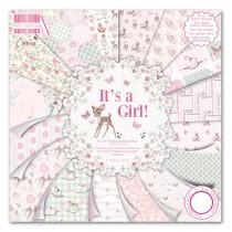 Sada papierov It's a Girl 20,3x20,3 (16ks)