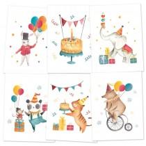 Zostava kartičiek -  Happy Birthday
