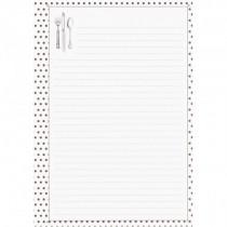 Listy do receptárov - hnedé bodky