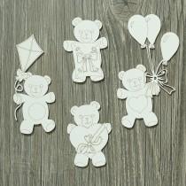 Lepenkový výrez -  party medvedíky 2