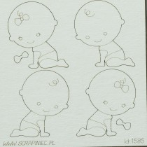 Lepenkový výrez -  miminká