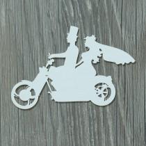 Lepenkový výrez -  pár na motorke