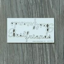 Lepenkový výrez -  best friends