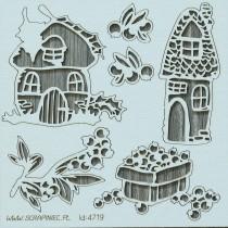 Lepenkový výrez -  blueberry fairy elementy