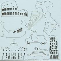 Lepenkový výrez -  Taliansko