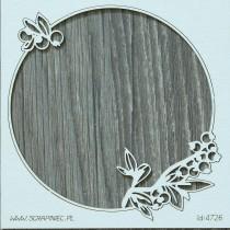 Lepenkový výrez -  blueberry fairy rámik 2