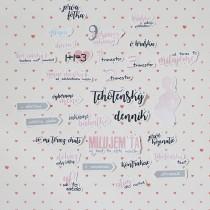 Slovenské papierové výseky - tehotenské ružové