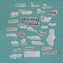 Slovenské papierové výseky - tehotenské modré