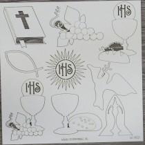 Lepenkový výrez - zostava sväté prijímanie