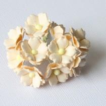 Papierové kvety - sweethearts 10ks