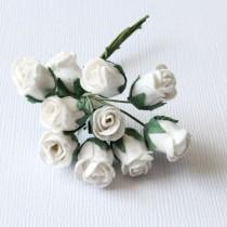 Papierové kvety - ružičky 10ks 1cm