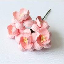Papierové kvety - cherry ružové 5ks