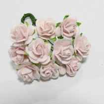Papierové kvety - open roses mist (10ks, 1,0cm)