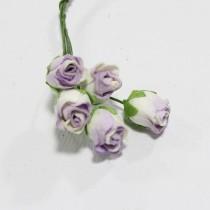 Papierové kvety - lilac hip rosebuds 5ks