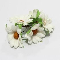 Papierové kvety - biele chryzanétny 5ks