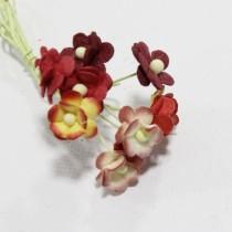 Papierové kvety - mini sweethearts 10ks mixed red