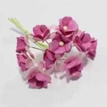 Papierové kvety - sweethearts 10ks pink