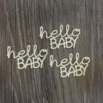 Lepenkový výrez - nápis hello baby