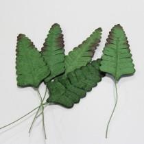 Papierové  listy - 6,5 cm, 5ks