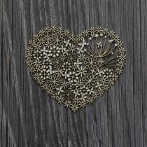 Lepenkový výrez - lacy heart