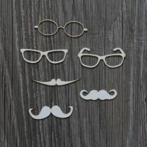 Lepenkový výrez - okuliare a fúzy