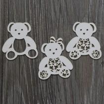 Lepenkový výrez - medvedíky