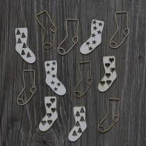 Lepenkový výrez - christmas ponožky