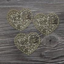 Lepenkový výrez - lacy heart 3ks