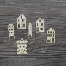 Lepenkový výrez - malé domčeky