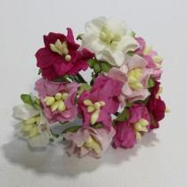 Papierové kvety - gardenia ružové 10ks