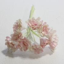 Papierové kvety - gypsophila ružovo-biela 10ks