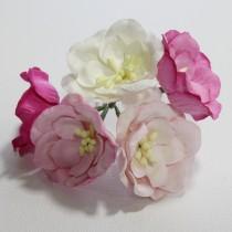 Papierové kvety - magnolia ružové 5ks