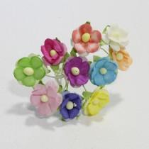 Papierové kvety - sweethearts 10ks mix